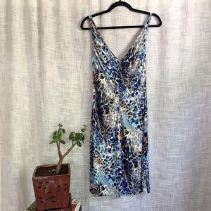 Andrea Behar Boston Proper Leopard Deep V Dress
